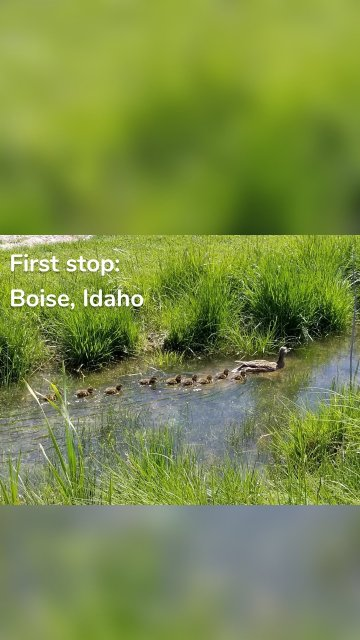 First stop: Boise, Idaho